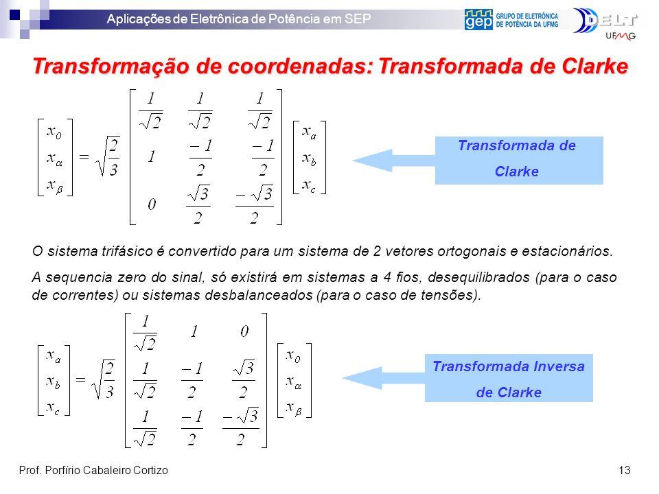 Transformação de coordenadas: Transformada de Clarke
