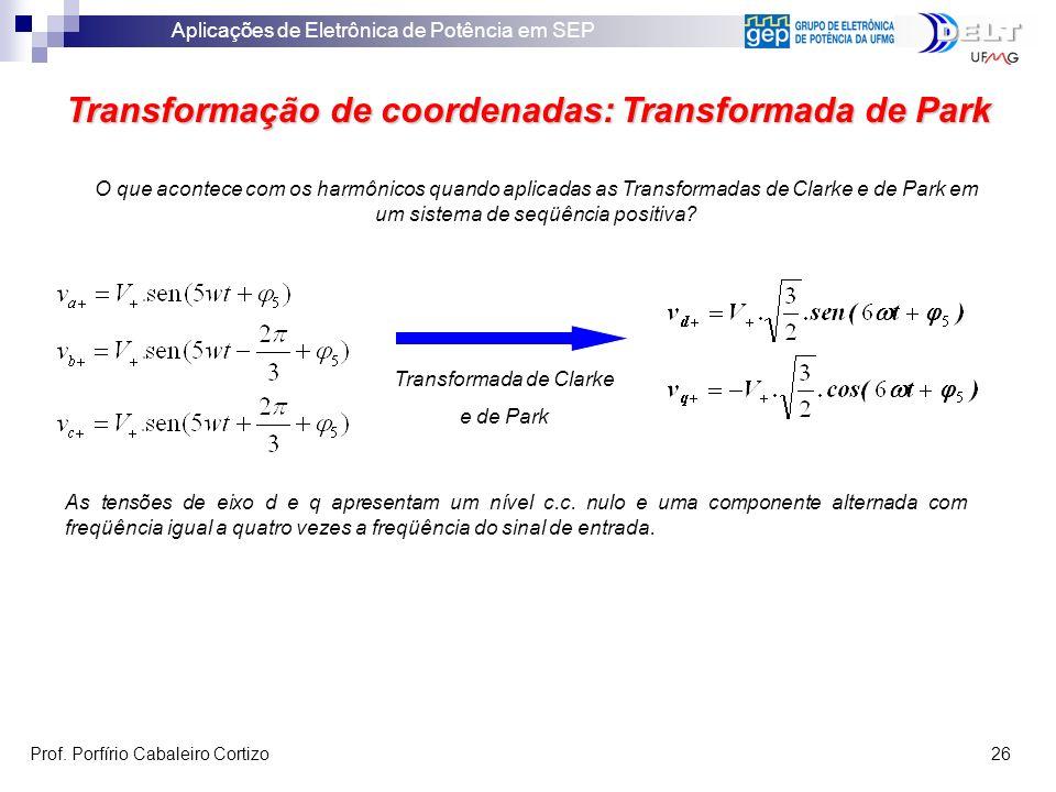 Transformação de coordenadas: Transformada de Park