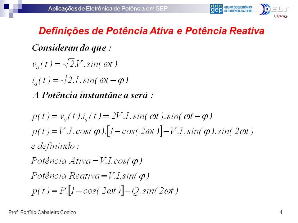Definições de Potência Ativa e Potência Reativa
