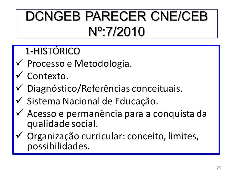 DCNGEB PARECER CNE/CEB Nº:7/2010