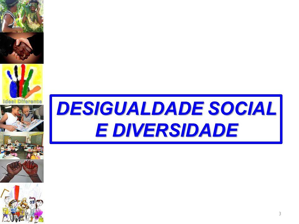 DESIGUALDADE SOCIAL E DIVERSIDADE