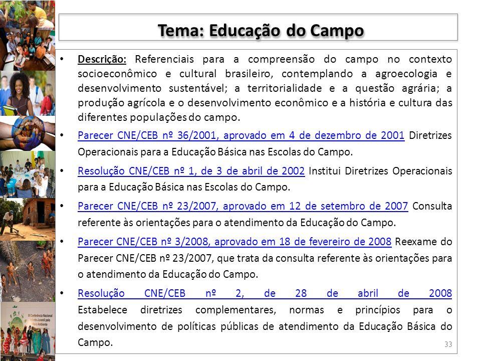 Tema: Educação do Campo