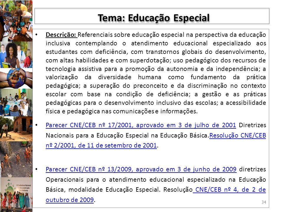 Tema: Educação Especial