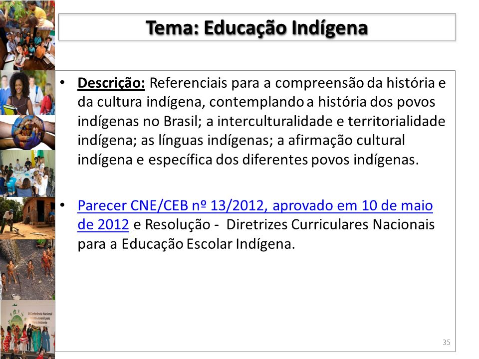 Tema: Educação Indígena