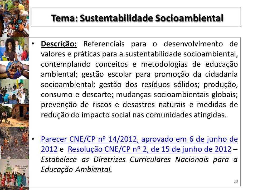 Tema: Sustentabilidade Socioambiental