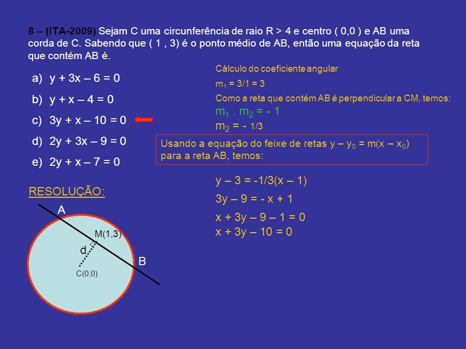y + 3x – 6 = 0 y + x – 4 = 0 3y + x – 10 = 0 2y + 3x – 9 = 0