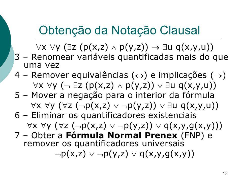 Obtenção da Notação Clausal
