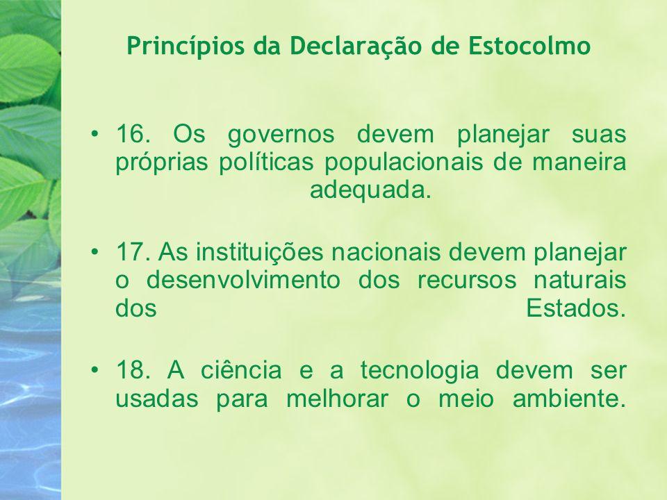 Princípios da Declaração de Estocolmo