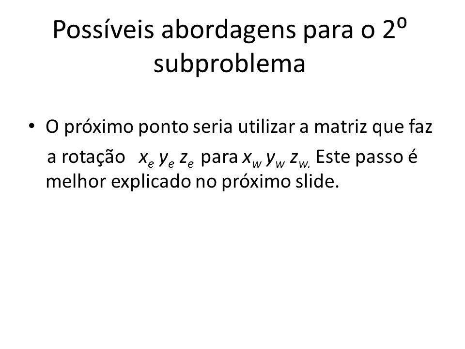 Possíveis abordagens para o 2⁰ subproblema