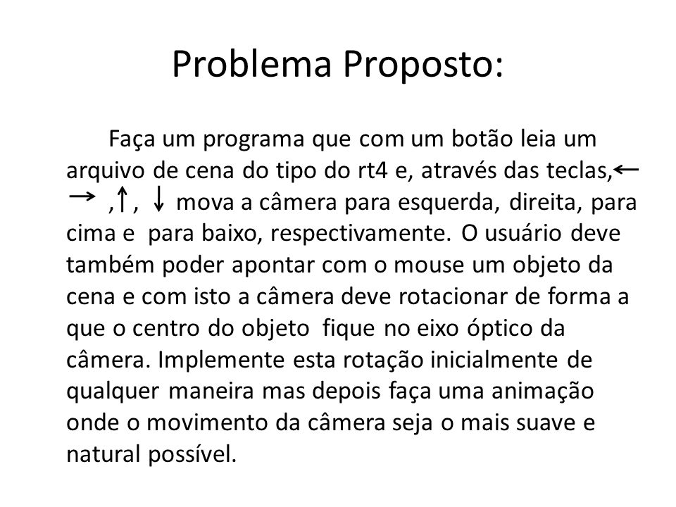 Problema Proposto: