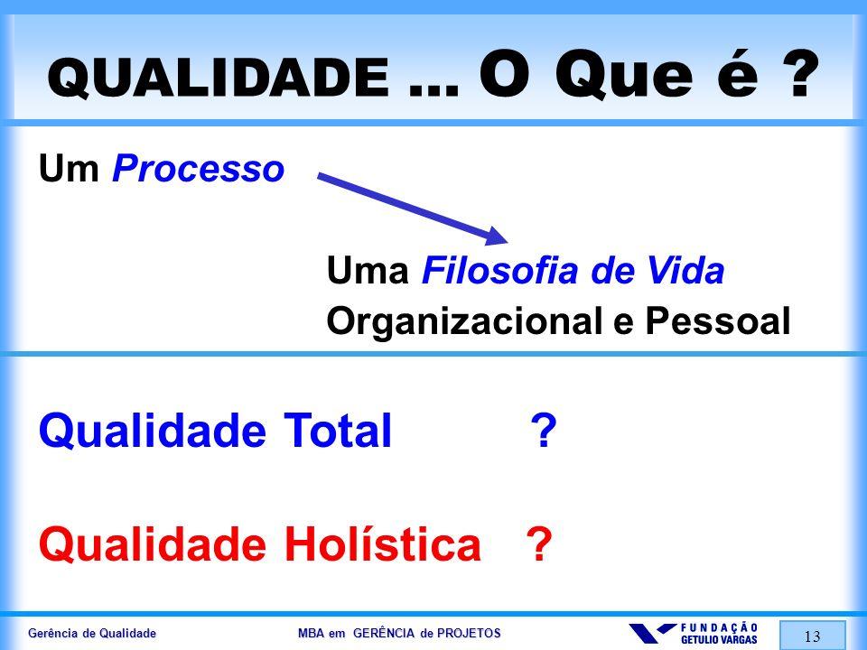 Qualidade Total Qualidade Holística Um Processo