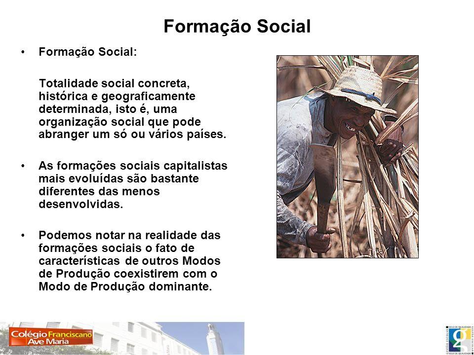 Formação Social Formação Social: