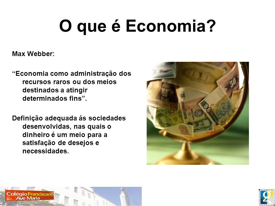 O que é Economia Max Webber: