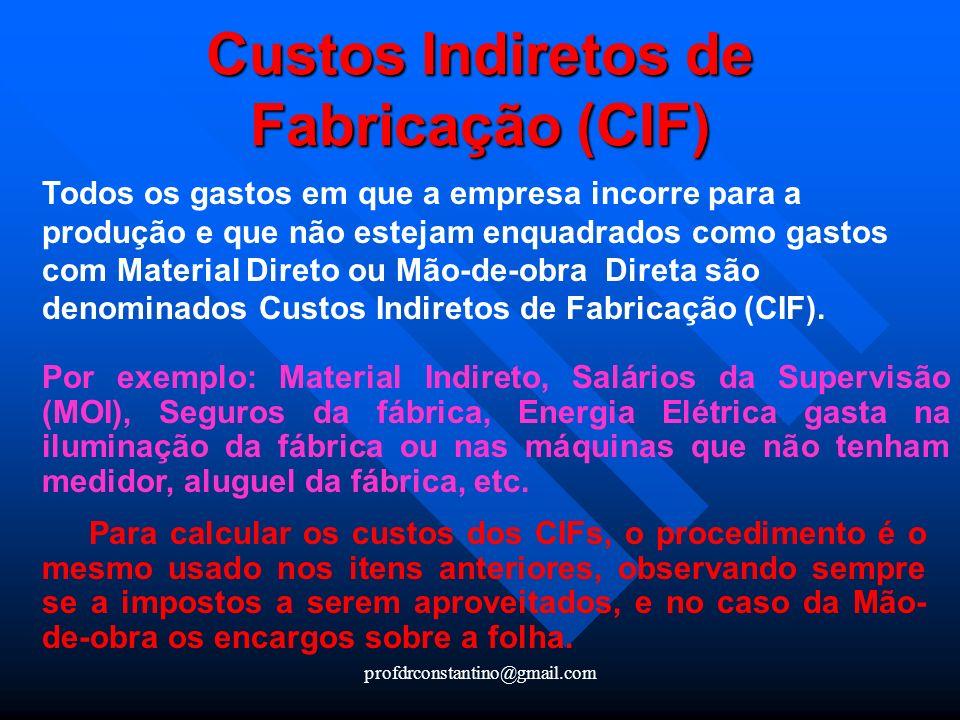 Custos Indiretos de Fabricação (CIF)