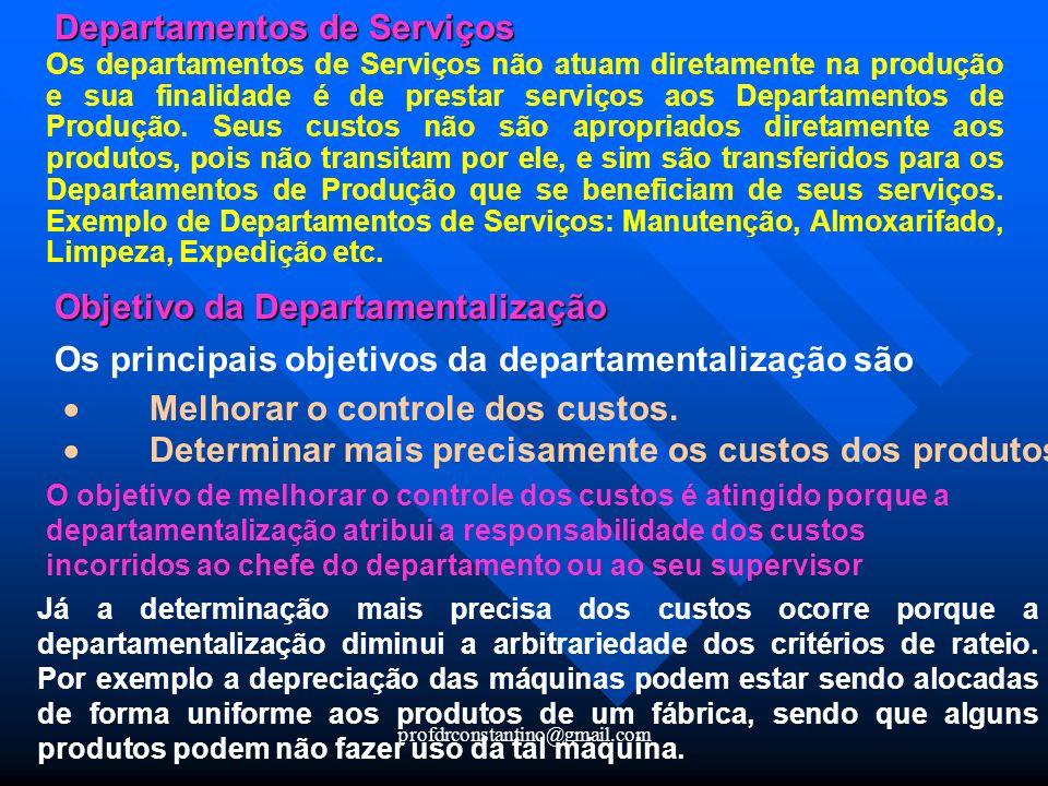 Departamentos de Serviços