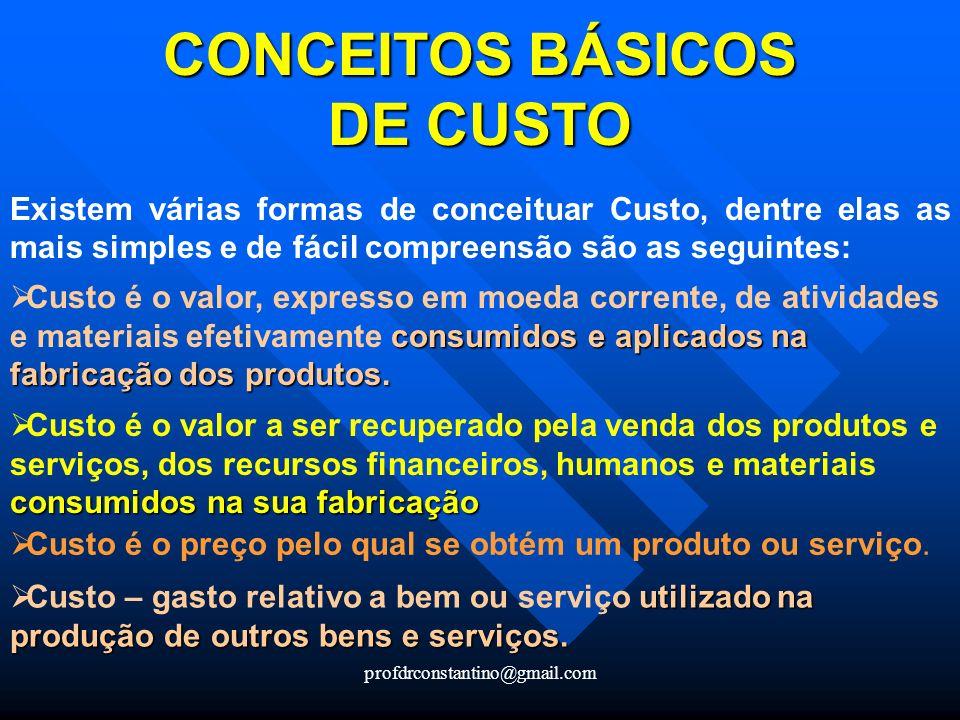 CONCEITOS BÁSICOS DE CUSTO