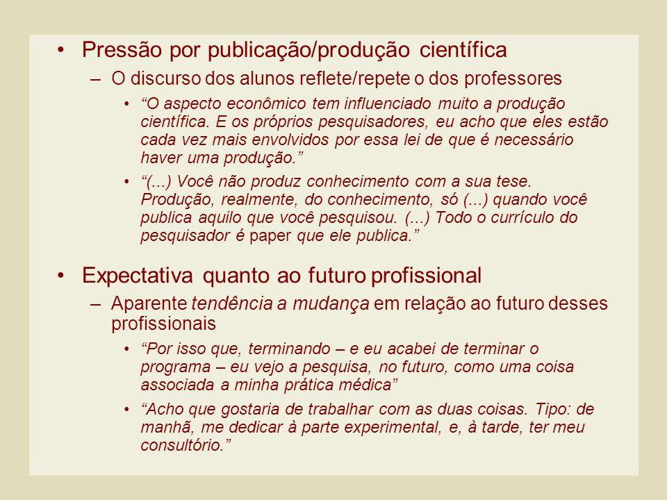 Pressão por publicação/produção científica