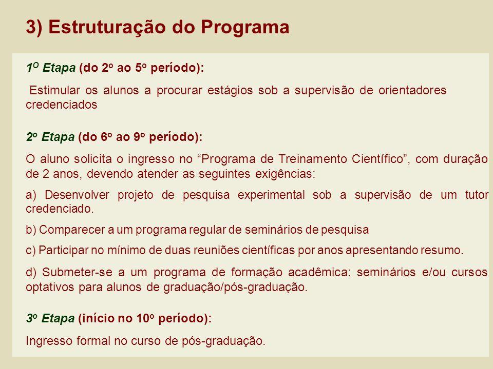 3) Estruturação do Programa