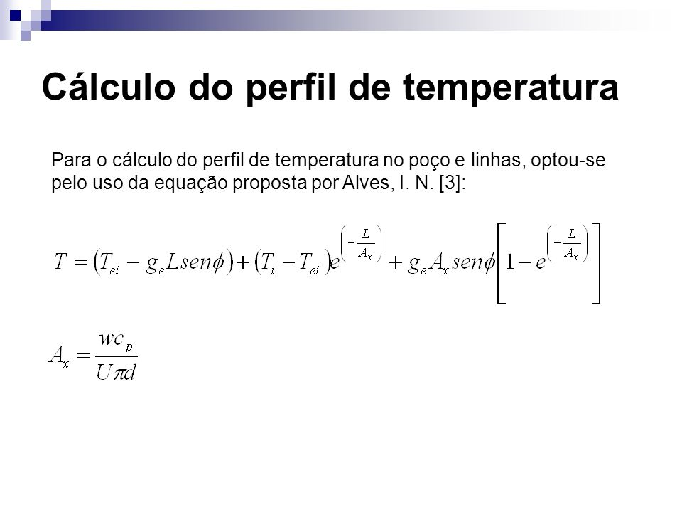Cálculo do perfil de temperatura