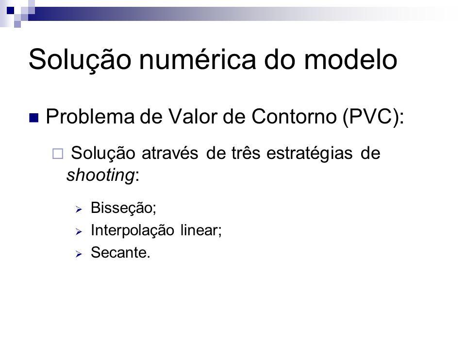 Solução numérica do modelo