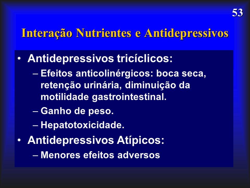 Interação Nutrientes e Antidepressivos