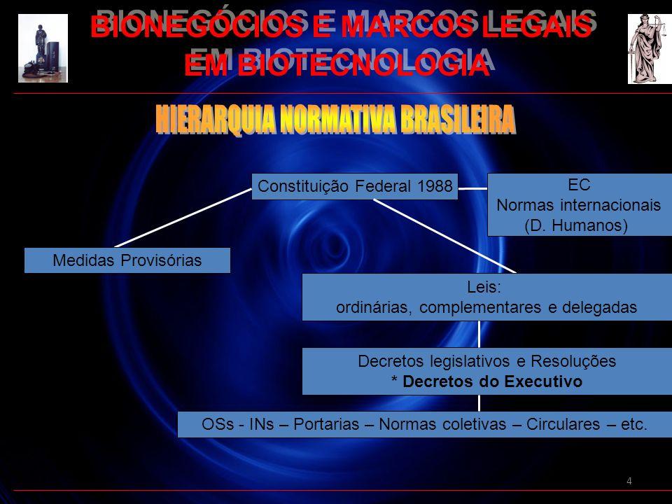 BIONEGÓCIOS E MARCOS LEGAIS * Decretos do Executivo