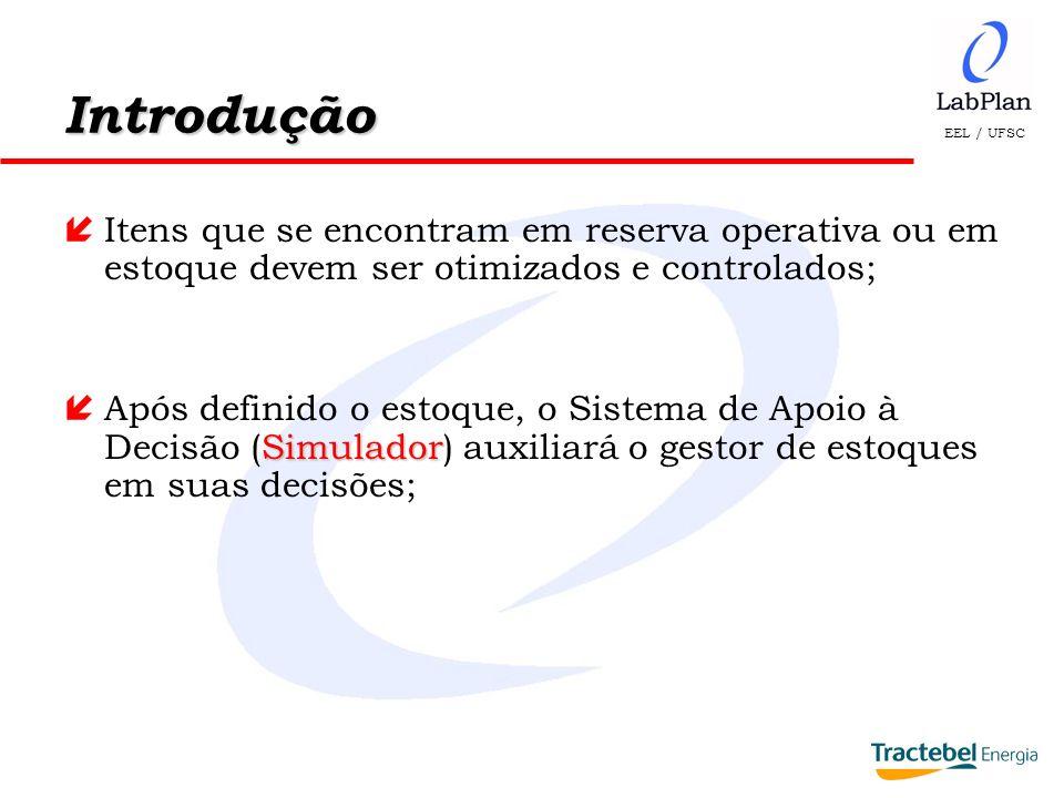 Introdução Itens que se encontram em reserva operativa ou em estoque devem ser otimizados e controlados;