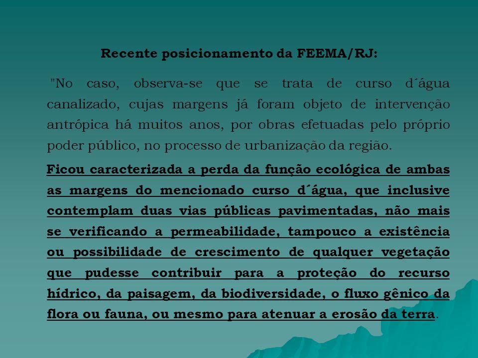 Recente posicionamento da FEEMA/RJ: