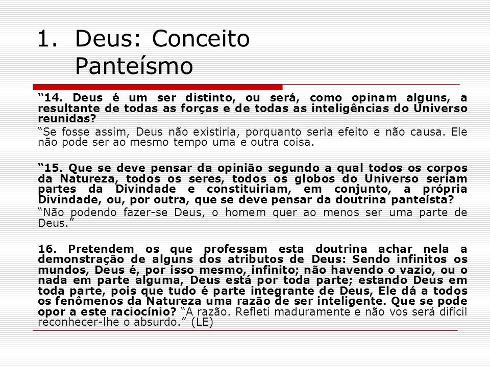 Deus: Conceito Panteísmo