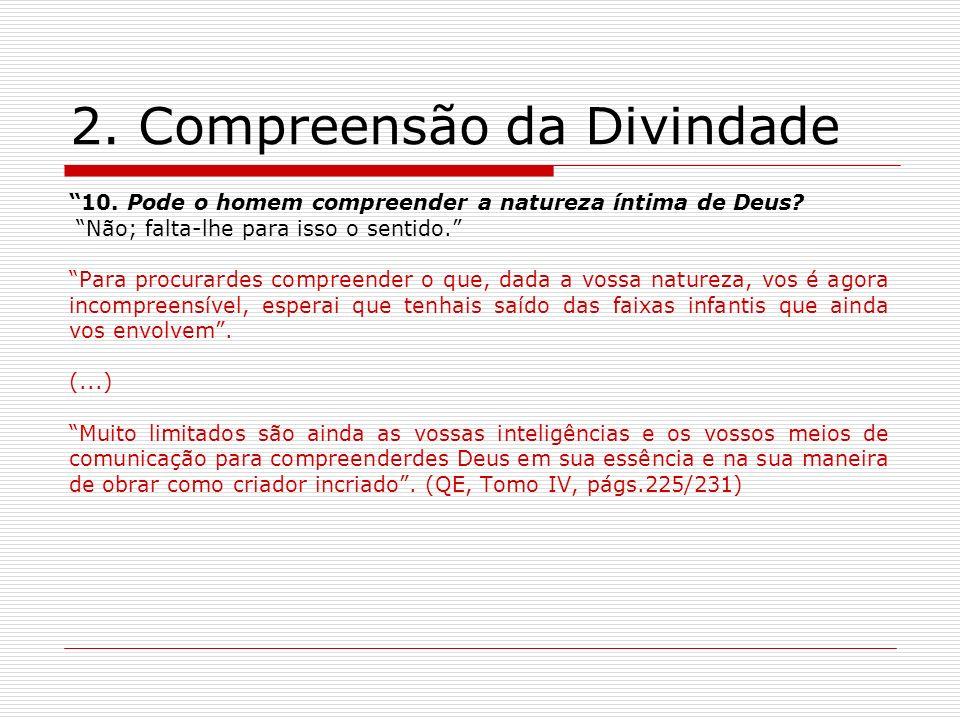 2. Compreensão da Divindade