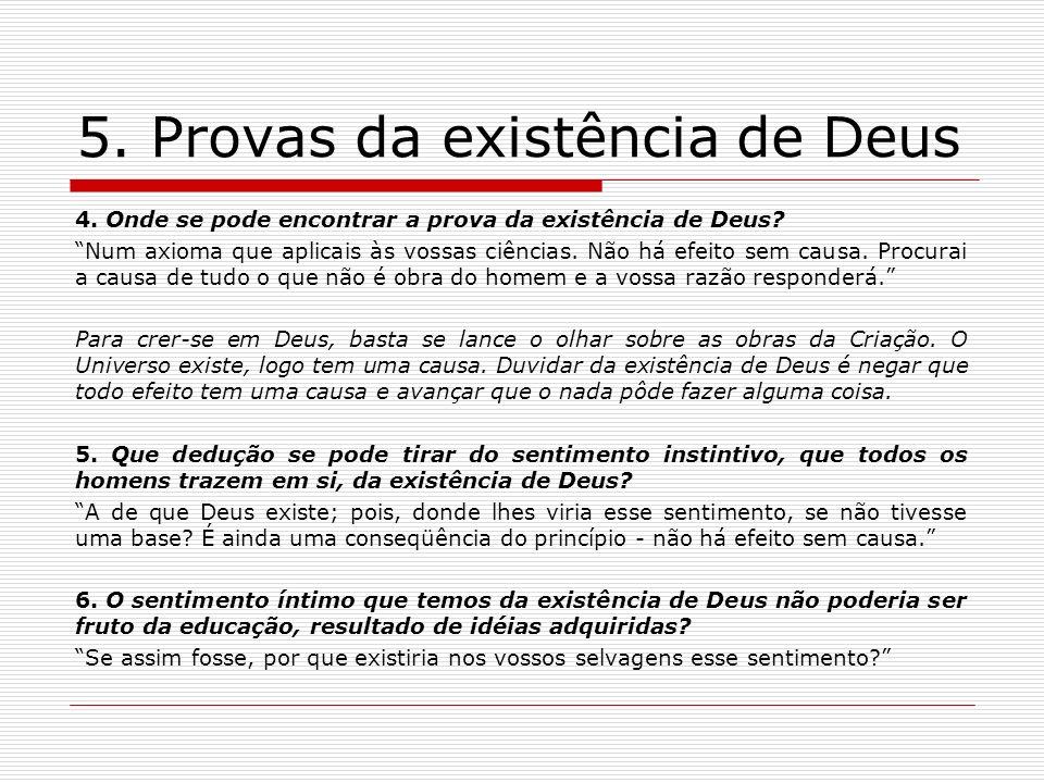 5. Provas da existência de Deus
