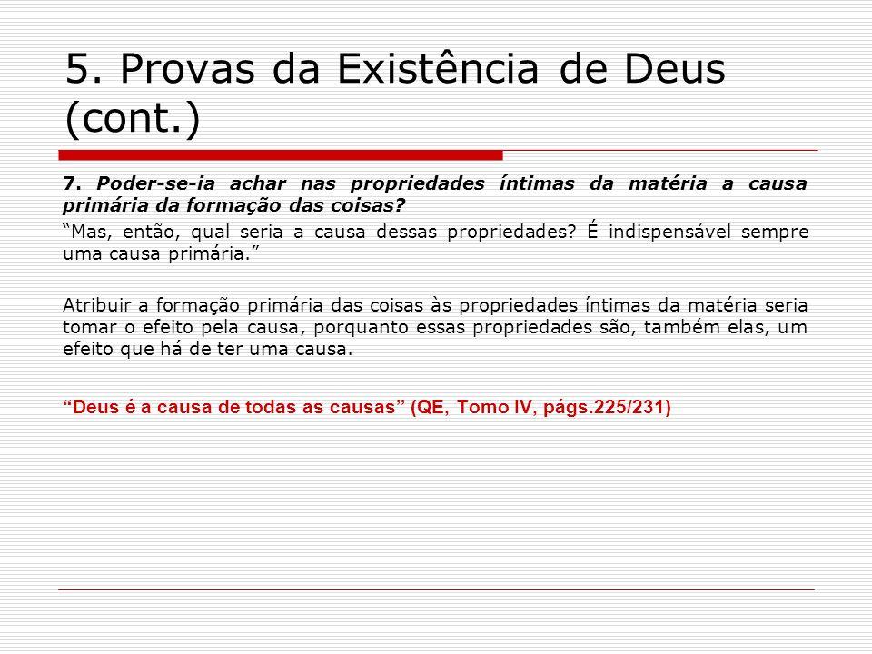 5. Provas da Existência de Deus (cont.)