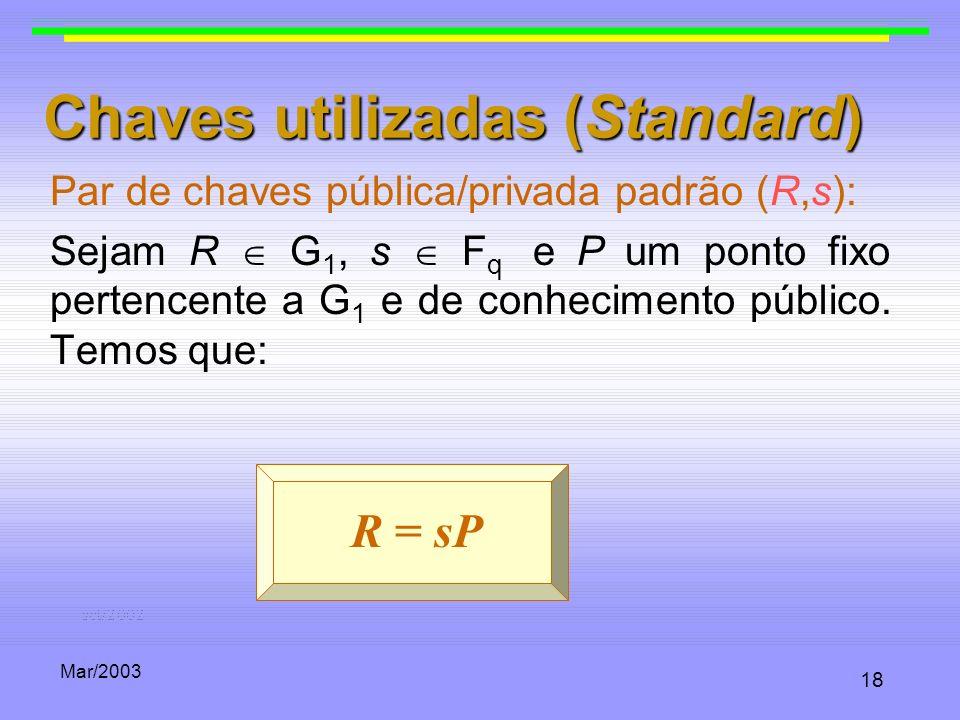 Chaves utilizadas (Standard)