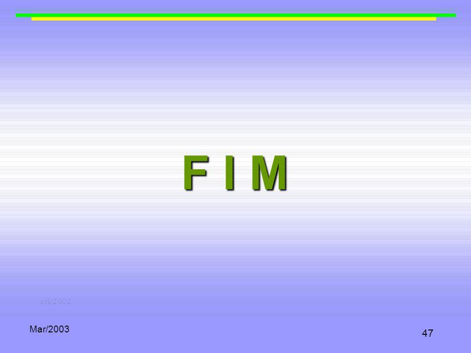 F I M Mar/2003