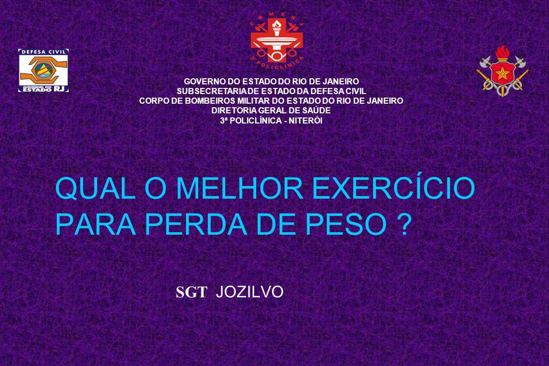 QUAL O MELHOR EXERCÍCIO PARA PERDA DE PESO