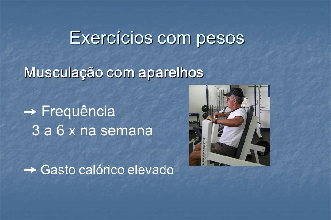Exercícios com pesos Musculação com aparelhos ➙ Frequência
