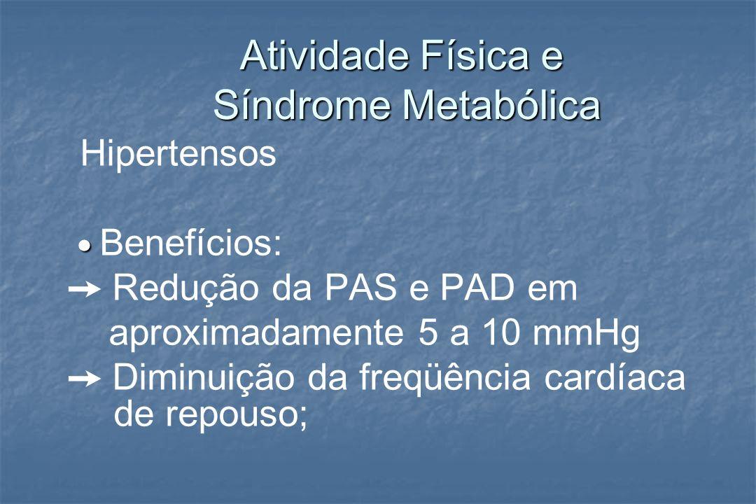 Atividade Física e Síndrome Metabólica