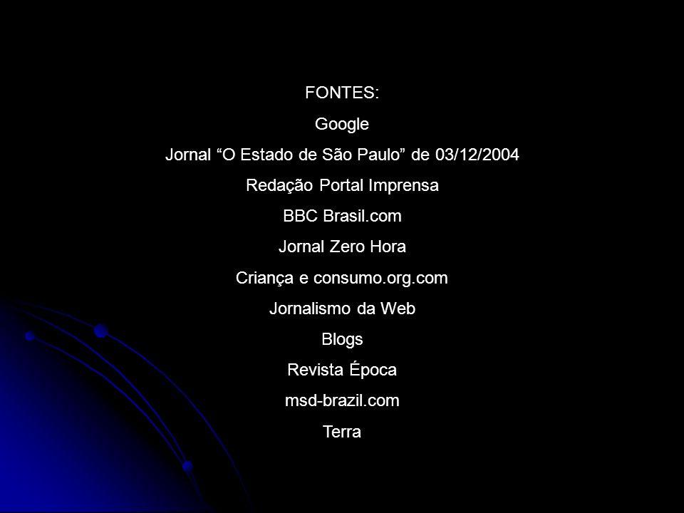 Jornal O Estado de São Paulo de 03/12/2004 Redação Portal Imprensa