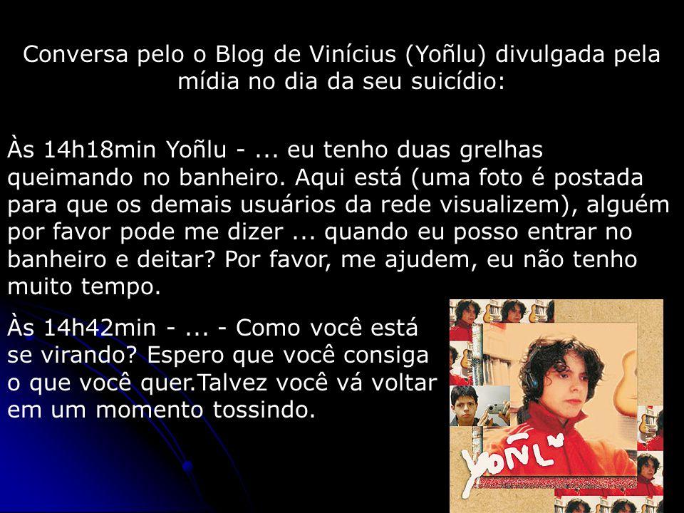 Conversa pelo o Blog de Vinícius (Yoñlu) divulgada pela mídia no dia da seu suicídio: