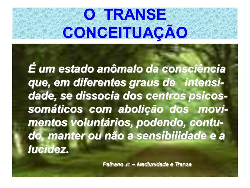 O TRANSE CONCEITUAÇÃO É um estado anômalo da consciência