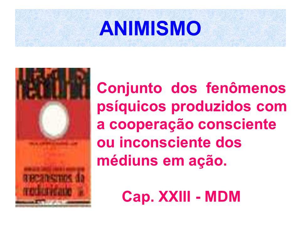 ANIMISMO Conjunto dos fenômenos