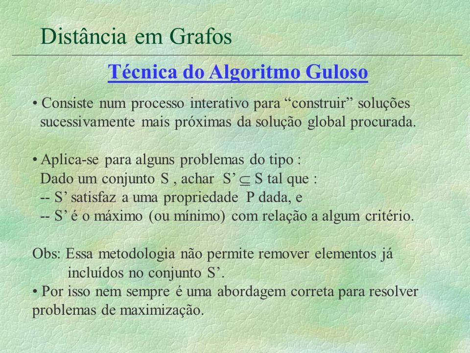 Técnica do Algoritmo Guloso