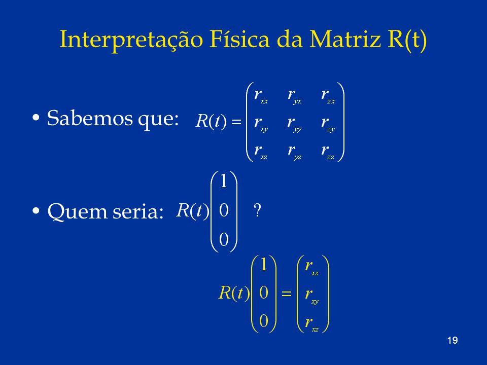 Interpretação Física da Matriz R(t)