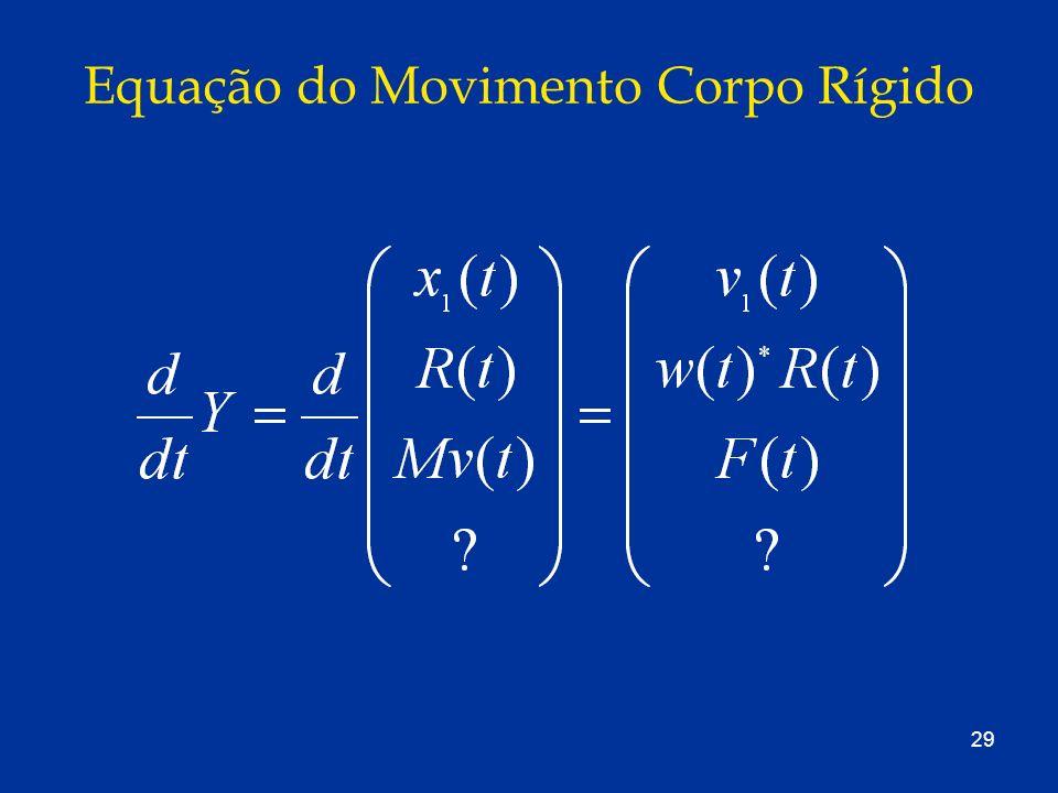Equação do Movimento Corpo Rígido