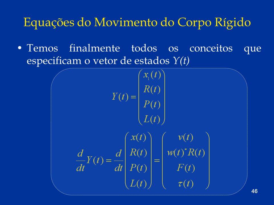 Equações do Movimento do Corpo Rígido