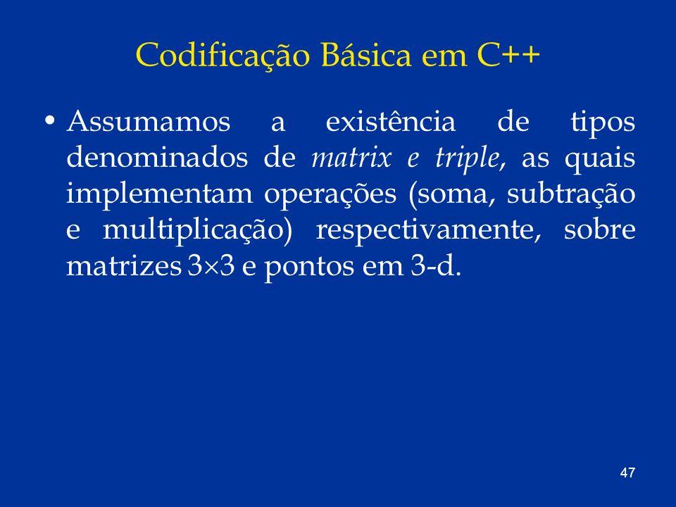 Codificação Básica em C++