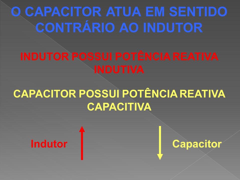 O CAPACITOR ATUA EM SENTIDO CONTRÁRIO AO INDUTOR