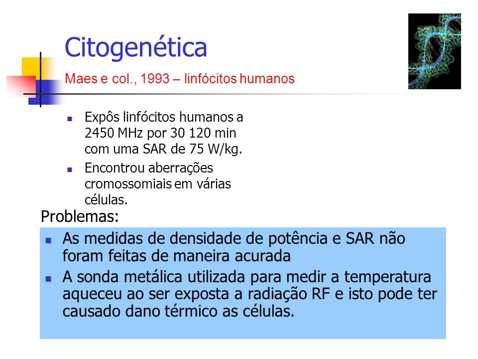 Citogenética Problemas: