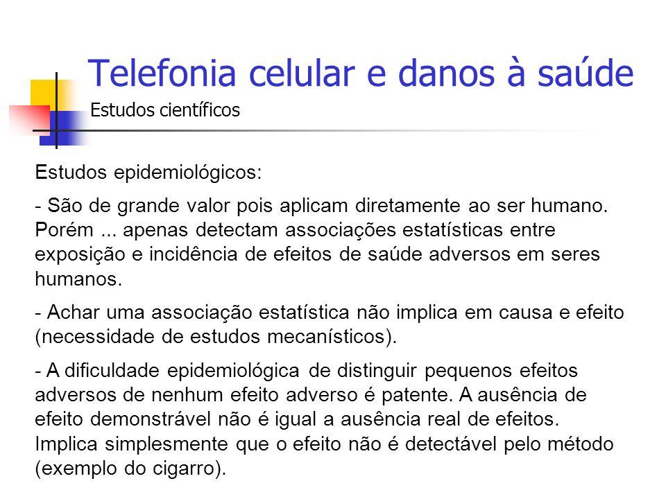 Telefonia celular e danos à saúde
