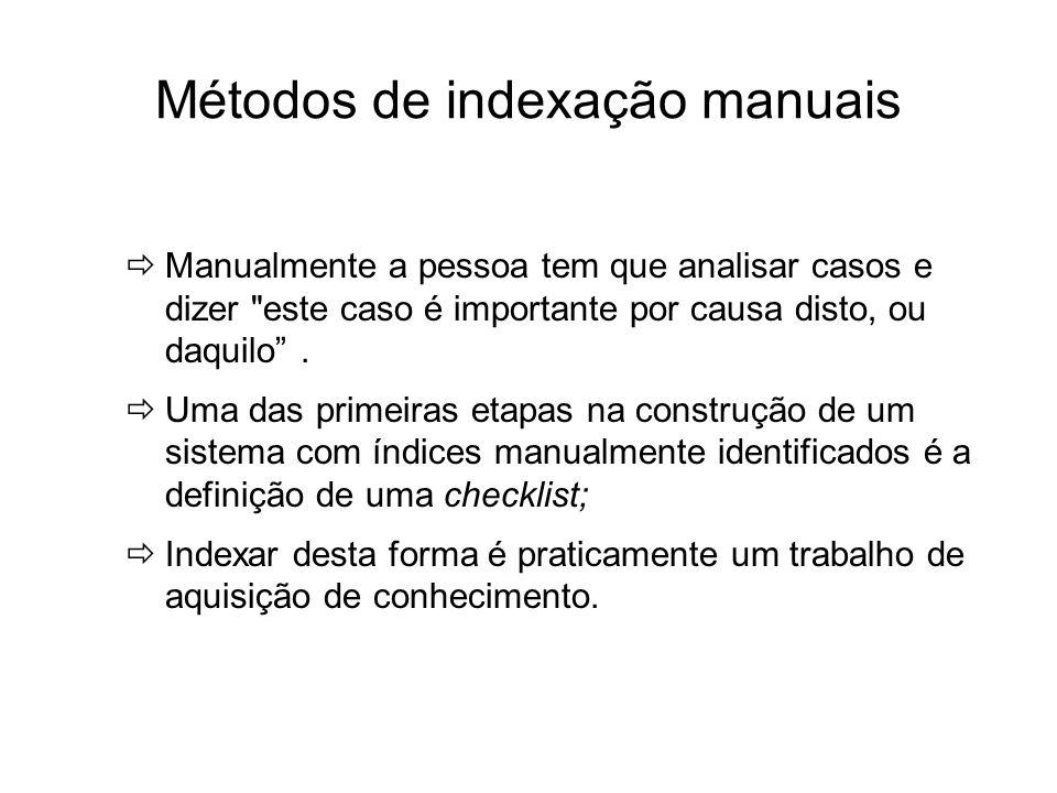 Métodos de indexação manuais